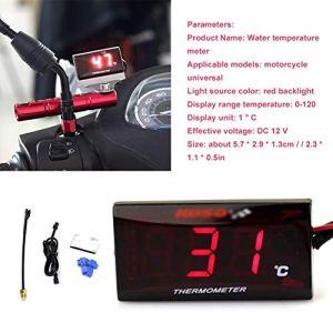 Hellycuche a utilisé la température Universelle de l'eau du thermomètre de Direction de la Moto modifiée avec l'indicateur LED pour rivaliser avec la Vespa