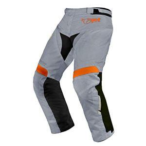 Jet Motorcycle Wear Pantalon Moto Imperméable avec Armure pour Homme (Argent Gris, UK W42 L30/EU 58 Short)