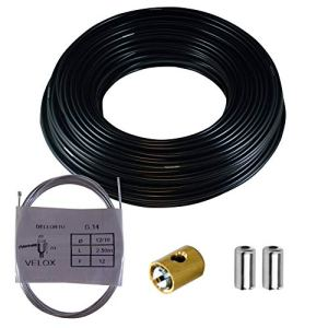 KIT CABLE GAINE D'ACCELERATEUR GAZ SERRE CABLE CYCLOMOTEUR MOBYLETTE CARBURATEUR STANDARD DELLORTO 3x3MM Ø1.2MM 2.5M