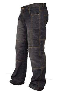 newfacelook – Pantalon de Protection en Fibre d'aramide pour Moto – pour Hommes – Denim – Noir