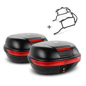 Paire de valises latérales Set Kawasaki W 800 11-16 Givi Monokey E460N noir