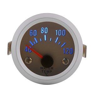 """Qiilu Jauge de température de l'eau avec capteur 52 mm 2"""" Digital Température de L'eau Blue LED pour 40-120 ℃ Gamme"""
