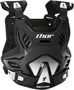 Thor Sentinel GP Plastron Noir/Blanc