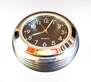 Time 4 Bikes Couvre-écrou de Potence Royal Enfield avec Horloge Noir