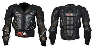 Veste de protection pour moto – Rouge et noir – Protection du corps et du dos pour moto tout-terrain