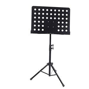 WCY Musique Portable Stand Guitar Big Music Table Pliante Ascenseur for Violon Erhu Guzheng Saxophone Commande Universelle Lutrin Cadeaux for Mélomanes (Couleur: Violet) yqaae (Color : Black)