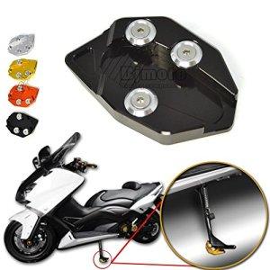 BJ Global Rider Béquille de moto CNC Plaque de côté pour moto support agrandisseur Extension pour Yamaha Tmax 530Yamaha Tmax