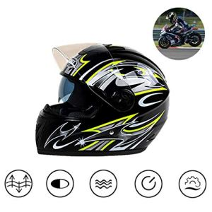 Casques de moto, casques de moto complets, casques antibuée antibruit, lunettes à double lentille, protection à trois couches,doublure absorbant la transpiration,adapté au terrainla compétitionetc,1