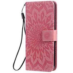 Coque pour LG K50 / LG Q60 Protection Housse en Cuir PU Pochette,[Emplacements Cartes],[Fonction Support],[Languette Magnétique] pour LG K50 / LG Q60 – DEKT031712 Rose