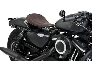 Customaccess AZ2499N Selle Solo Customacces Modèle Columbia Marron avec Ressorts pour Harley Davidson Sportster Iron XL883N 04′-06′