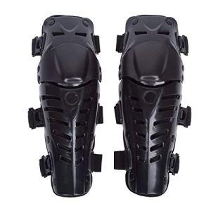 Genouillère Moto Cross Protection Genoux Tibia Équipement Professionnel Adulte Homme ou Femme 1 Paire Noir