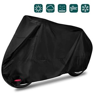 Housse de protection pour moto imperméable et coupe-vent contre la pluie et la neige XXL 245 x 105 x 125 cm Noir