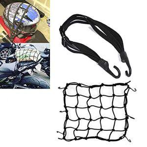 Lot de 2 filets élastiques, courroies de chargement, pour bagages et casque de moto et de vélo