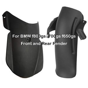 Moto arrière Garde-Boue Garde-Boue Avant Accessoires Garde Splash Hugger, Fender Splash Guard, for BMW F800GS F700GS F650GS Volume Moyen Quotidien d'aventure F 800GS 700GS (Color : One Set)