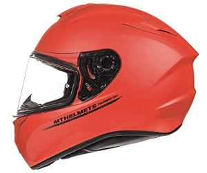 MT–casque intégral modèle targo Solid A1Rouge Mat L (59-60 cm) Rouge mat