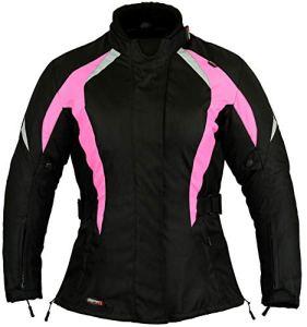 Veste imperméable moto dames Manteau Protection Rose choquant , Moyen