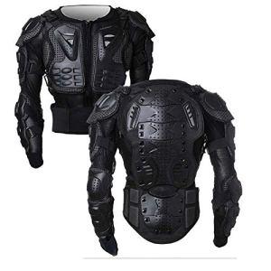 Armure Complète du Corps Veste de Moto Blouson de Motard Gilet Protection de Colonne Poitrine Épaule Noir XXXL