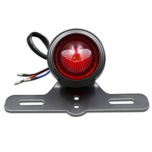 BJ Global universel Moto LED support de plaque d'immatriculation avec feu arrière