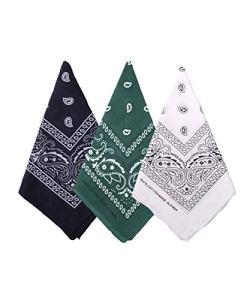 Bycc Bynn Lot de 3 bandanas 100 % coton Motif cachemire – – Taille unique