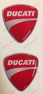 Emblème Logo Decal Ducati, couple Stickers, Résine Effet 3d. Pour réservoir ou casque