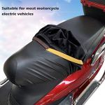 Housse de Siège de Moto,Biluer 2PCS Protège-siège de Moto Couvre-Selle pour Scooter Adapté à La Plupart des Sièges de Moto Electriques