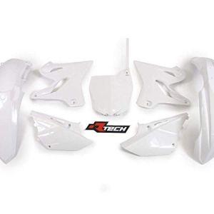 Kit plastique complet RTECH YAMAHA 125 250 YZ 15-17 / WHITE blanc