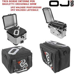 Lot de 3 sacoches intérieures pour coffres BMW R 1200 GS Adventure M139 + M140 OJ Noires Extensibles latérales et arrières.