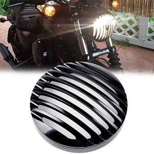 'League & Co 5,75 Aluminium Phare Protection Cover Grill pour 2004–2012 Harley Sportster XL 883 1200 2007 2008 2009 2010 2011 2012