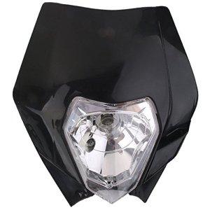 Moto Headlamp – TOOGOO(R)Tete de Fourche Plaque Phare de Moto Route Enduro Universel pour Yamaha KTM – Noir