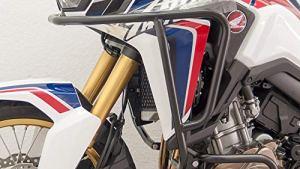 Motorize-Fehling Arceau de Protection Enduro, Haut, Noir, Convient pour Honda CRF 1000 L Africa Twin (Aussi DCT)