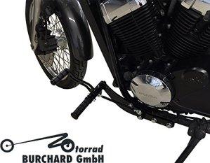 Repose-pieds Anlage 30cm anticipative Noir brillant pour Honda VT 750S RC58avec ABE
