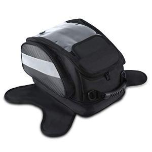 Sacoche de Réservoir Moto Magnétique Oxford Tissu Sac Imperméable Navigation Casque Portable Universelle Grande 28L Noir