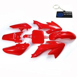 Stoneder Plastique Rouge Carénage Kits de corps Coque pour Honda CRF50Stomp Coolster SDG GPX