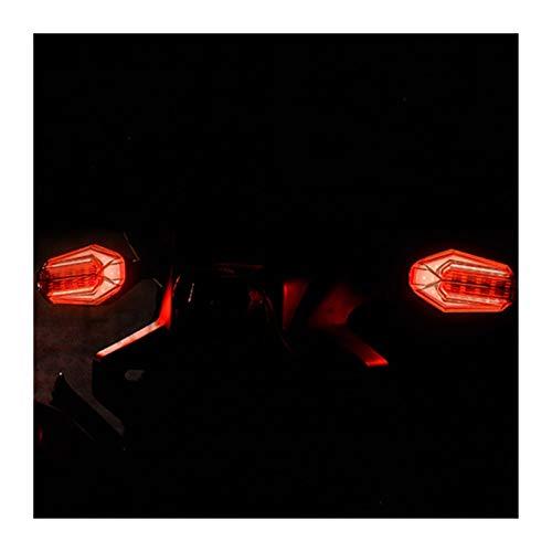 XIAOFANG 2PCS Moto signaux Clignotants Feux Clignotants LED arrière étanche Lumière œillères d'arrêt de freinage Lampe Signal Fit for 125 MSX (Color : Red and Yellow)