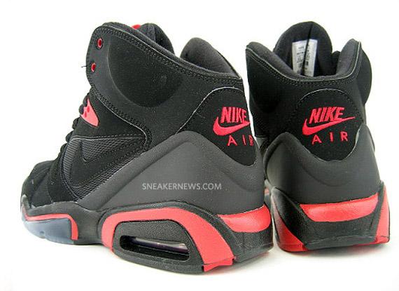 Nike Air Hoop Structure - Black/Hot Red