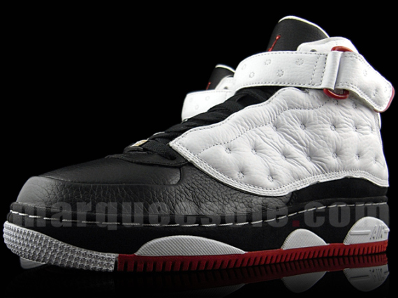 Air Jordan 13 (XIII) Fusion – White / Black – Varsity Red