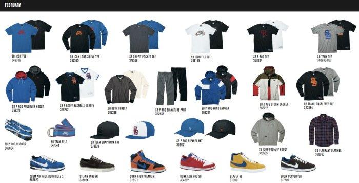 Nike SB Feburary 2010 Collection