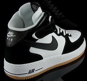 Nike Air Force 1 - Black / White - Gum