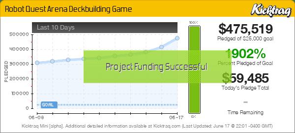 Robot Quest Arena Deckbuilding Game -- Kicktraq Mini