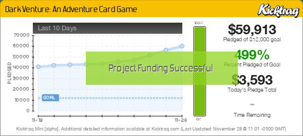Dark Venture: An Adventure Card Game -- Kicktraq Mini
