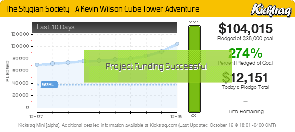 The Stygian Society - A Kevin Wilson Cube Tower Adventure -- Kicktraq Mini