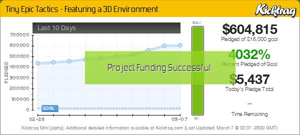 Tiny Epic Tactics - Featuring a 3D Environment -- Kicktraq Mini