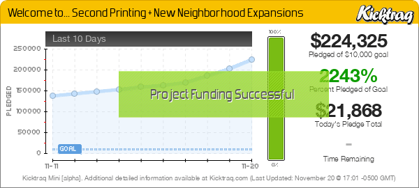 Welcome to... Second Printing + New Neighborhood Expansions -- Kicktraq Mini