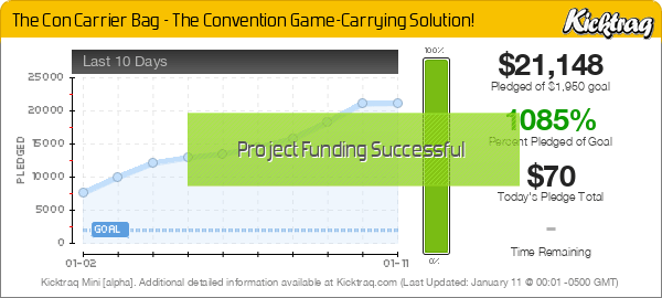 The Con Carrier Bag - The Convention Game-Carrying Solution! -- Kicktraq Mini