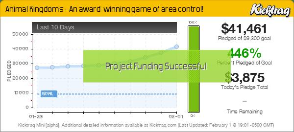 Animal Kingdoms - An award-winning game of area control! -- Kicktraq Mini