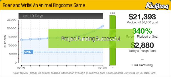 Roar and Write! An Animal Kingdoms Game -- Kicktraq Mini