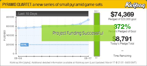 PYRAMID QUARTET: a new series of small pyramid game sets -- Kicktraq Mini