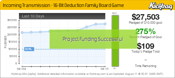 Incoming Transmission - 16-Bit Deduction Family Board Game -- Kicktraq Mini
