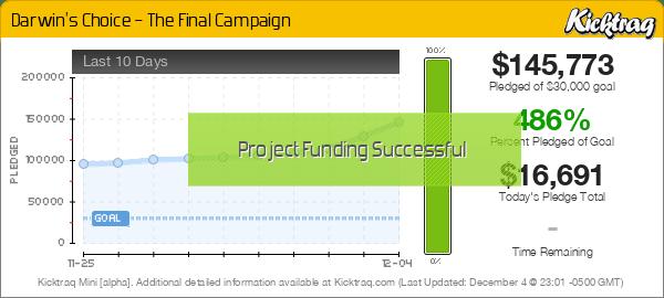 Darwin's Choice – The Final Campaign -- Kicktraq Mini