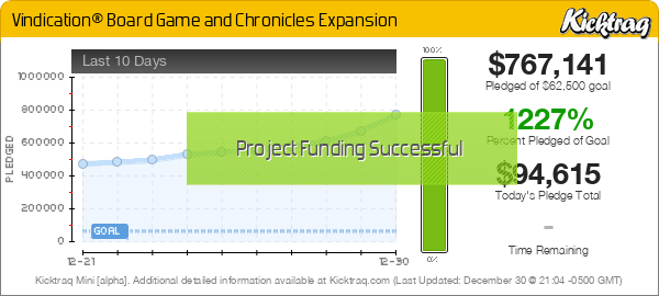 Vindication® Board Game and Chronicles Expansion -- Kicktraq Mini